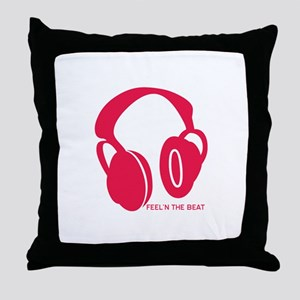 Feeln The Beat Throw Pillow