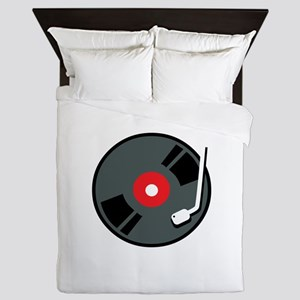 Record Player Queen Duvet