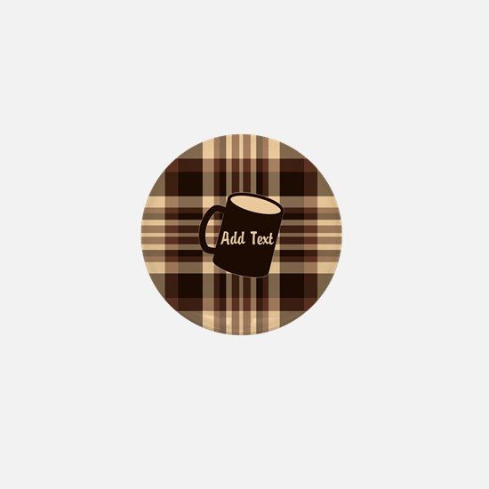 Coffee Lovers Plaid light Mini Button