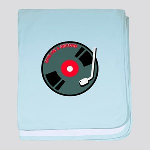 Spin Me A Record baby blanket