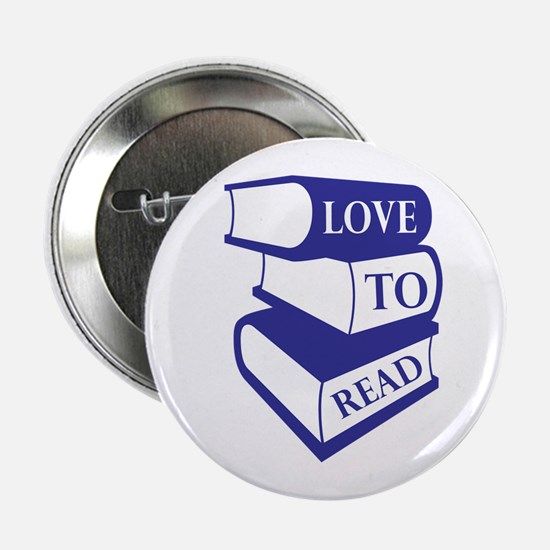 """Love To Read 2.25"""" Button"""