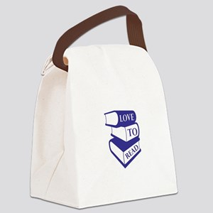 Love To Read Canvas Lunch Bag