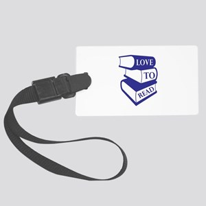 Love To Read Luggage Tag