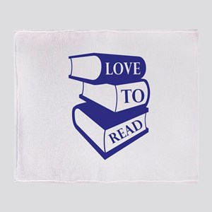 Love To Read Throw Blanket