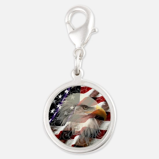 American Eagle Flag Charms