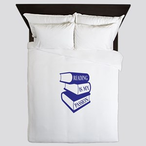 Reading Is My Passion Queen Duvet