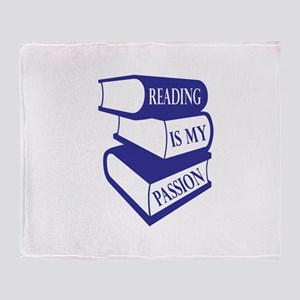 Reading Is My Passion Throw Blanket