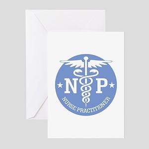 Caduceus NP (rd) Greeting Cards