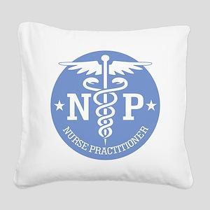 Caduceus NP (rd) Square Canvas Pillow