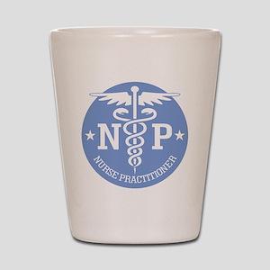 Caduceus NP (rd) Shot Glass