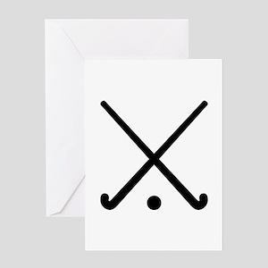 Crossed Field hockey clubs Greeting Card