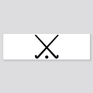 Crossed Field hockey clubs Sticker (Bumper)