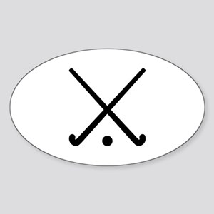 Crossed Field hockey clubs Sticker (Oval)