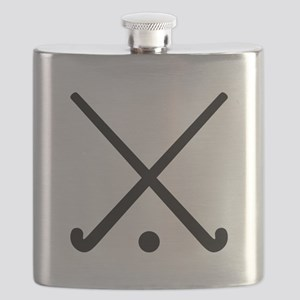 Crossed Field hockey clubs Flask