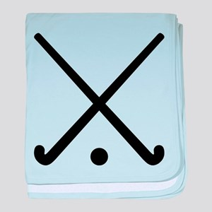 Crossed Field hockey clubs baby blanket