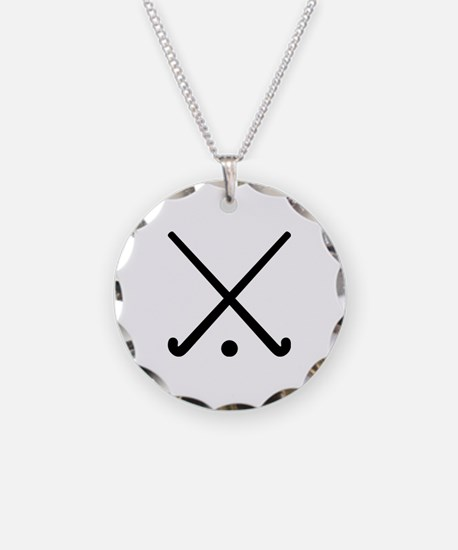 Crossed Field hockey clubs Necklace