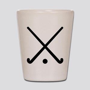 Crossed Field hockey clubs Shot Glass