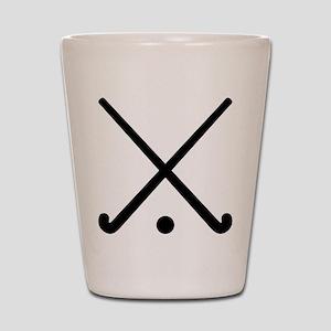 Crossed Field hockey clubs Shot Glass