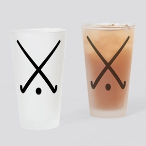 Crossed Field hockey clubs Drinking Glass