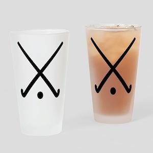 Crossed Field hockey clubs Drinking Glass