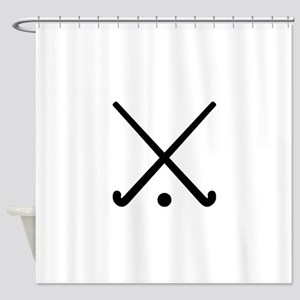 Crossed Field hockey clubs Shower Curtain