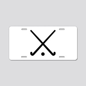Crossed Field hockey clubs Aluminum License Plate