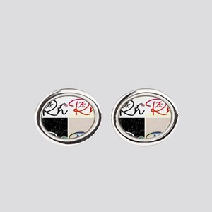 Right On Cp Oval Cufflinks