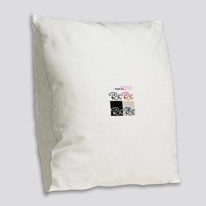 Right On Cp Burlap Throw Pillow