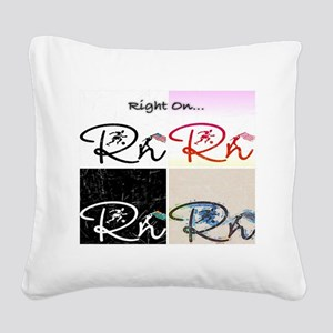 Right On Cp Square Canvas Pillow