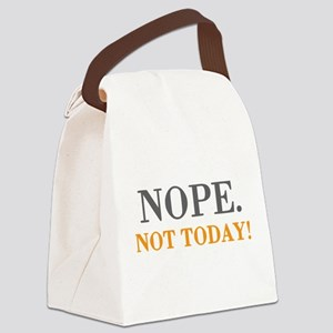 Humor Nope Not Today Canvas Lunch Bag