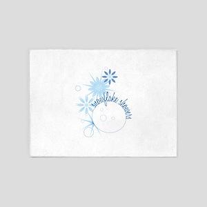 Snowflake Showers 5'x7'Area Rug