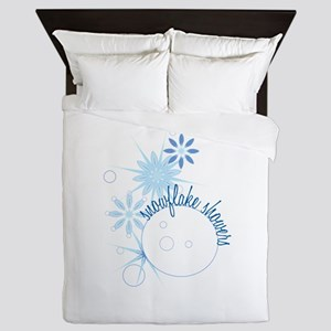 Snowflake Showers Queen Duvet