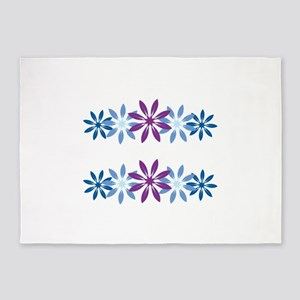 Colorful Snowflakes 5'x7'Area Rug