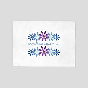 Snowflake Kisses To You 5'x7'Area Rug