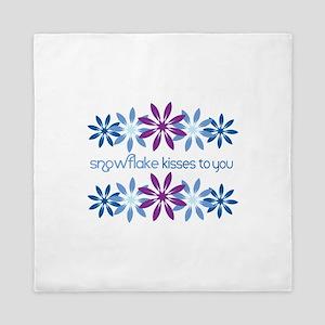 Snowflake Kisses To You Queen Duvet
