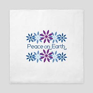 Peace On Earth Queen Duvet