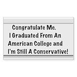 Conservative Grad Sticker