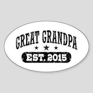 Great Grandpa Est. 2015 Sticker (Oval)