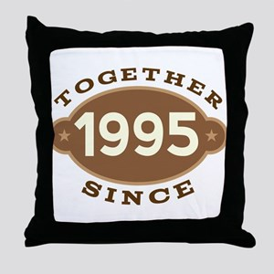 1995 Wedding Anniversary Throw Pillow