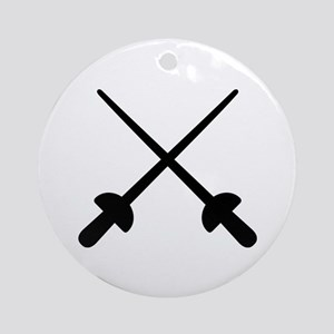 Fencing crossed epee Ornament (Round)