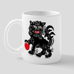 Painted Foo Dog Mug