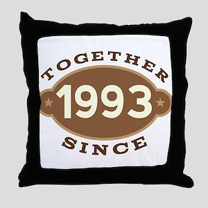 1993 Wedding Anniversary Throw Pillow