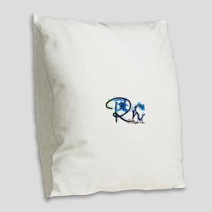 Right On S Burlap Throw Pillow