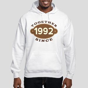 1992 Wedding Anniversary Hooded Sweatshirt