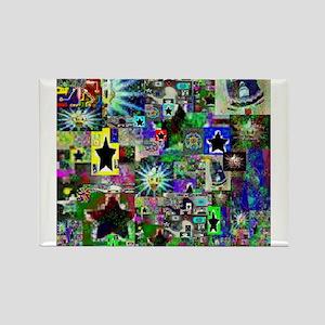 LSD Psychotherapy IV by Brett Rectangle Magnet
