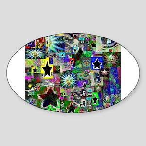 LSD Psychotherapy IV by Brett Oval Sticker