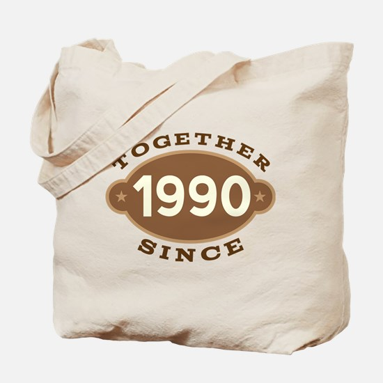 1990 Wedding Anniversary Tote Bag
