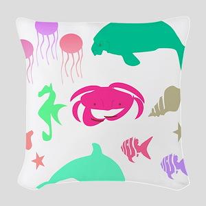 Sea Tale Woven Throw Pillow