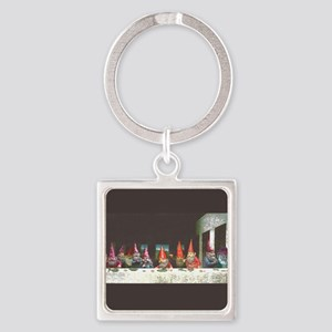 Gnome Last Supper Square Keychain Keychains