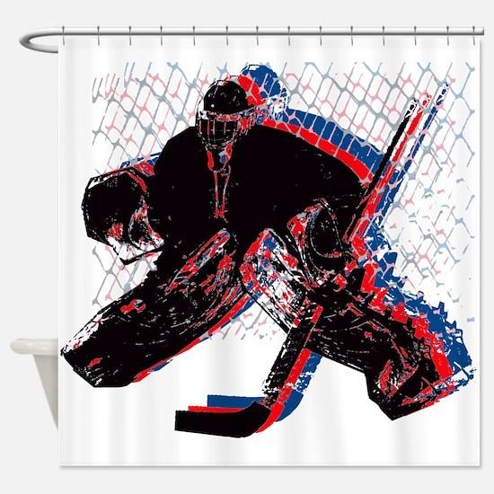 Hockey Goaler Shower Curtain